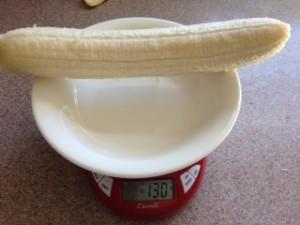 バナナの重さ