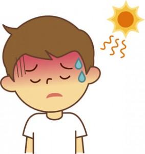 熱中症にかかった子供