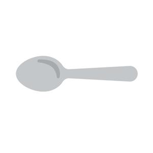 平行に置かれたスプーン