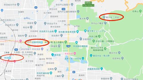 奈良東大寺ー地図